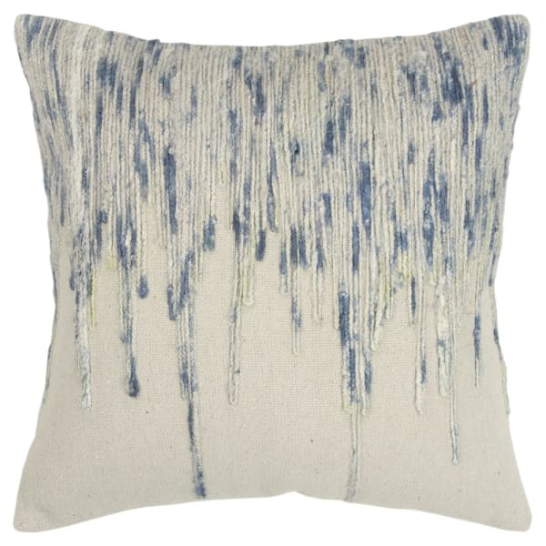 Abstract Stripe Blue Pillow Cover