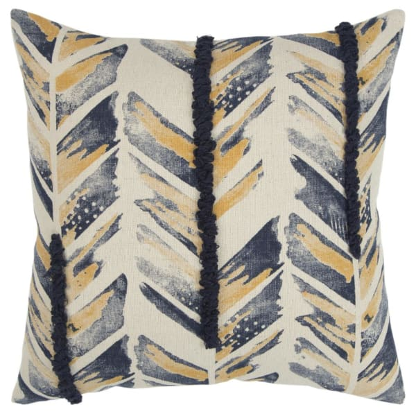 Chevron Indigo Filled Pillow