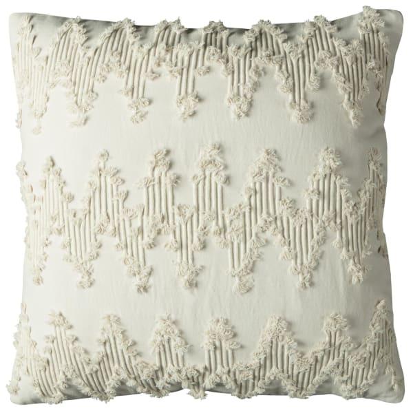 Chevron Ivory Pillow Cover