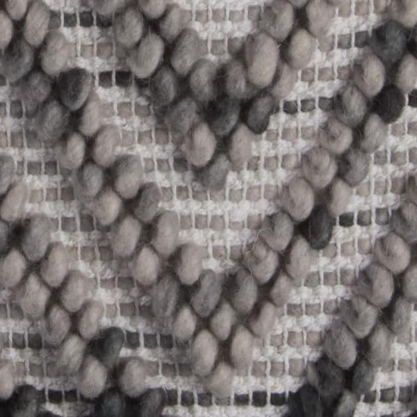 Chevron Woven Gray Pillow Cover