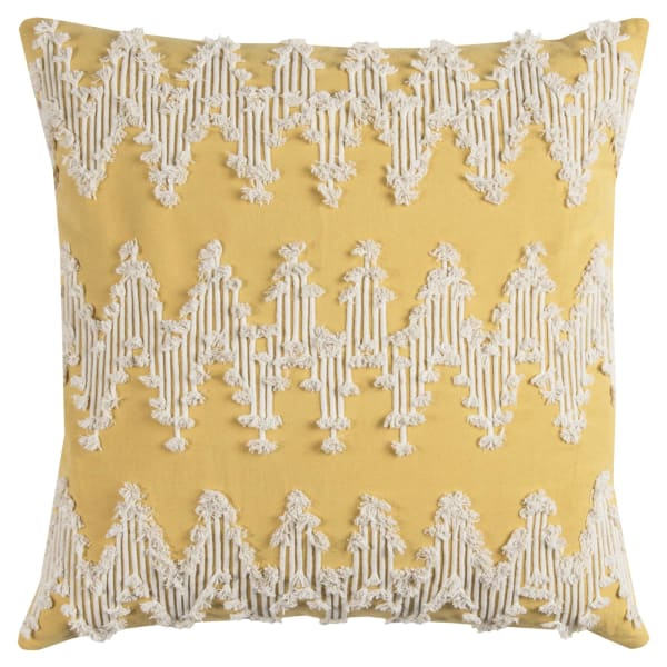 Corded Chevron Natural Pillow Cover
