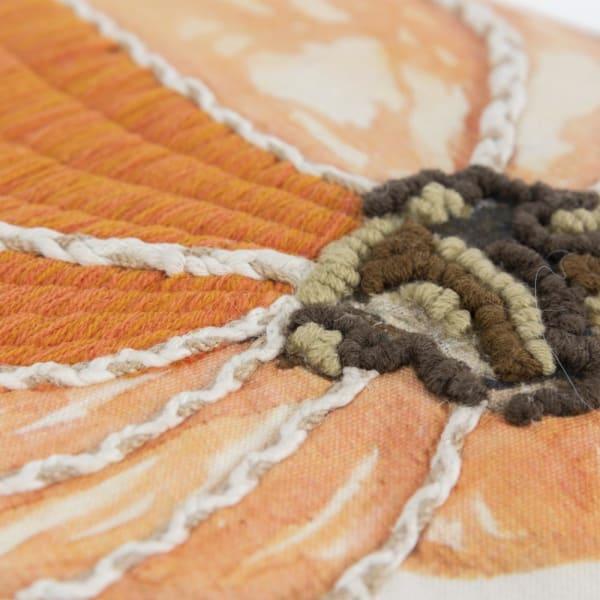 Pumpkin Motif Orange/Natural Pillow Cover