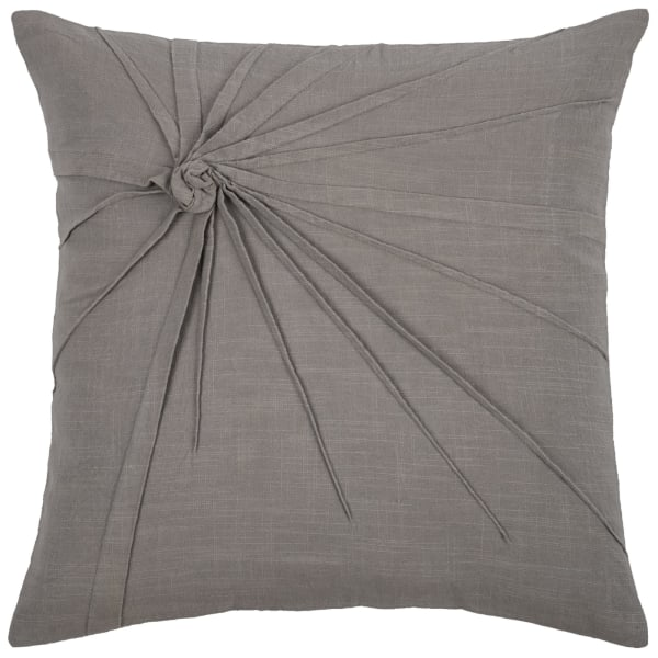 Solid Twisted Know Gray Pillow Cover