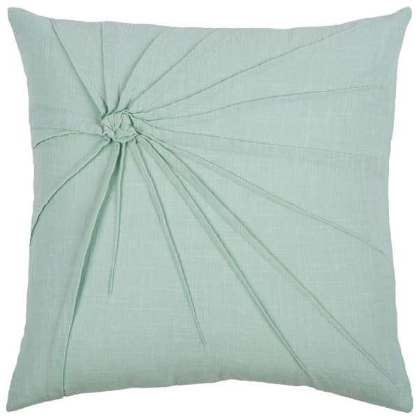 Solid Twisted Knot Aqua Pillow Cover