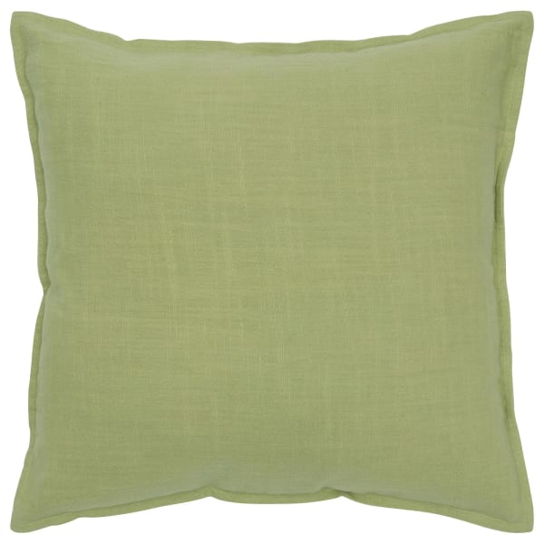 Solid Cotton Green Poly Filled Pillow