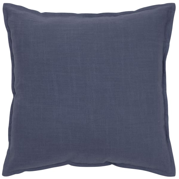 Solid Cotton Navy Poly Filled Pillow