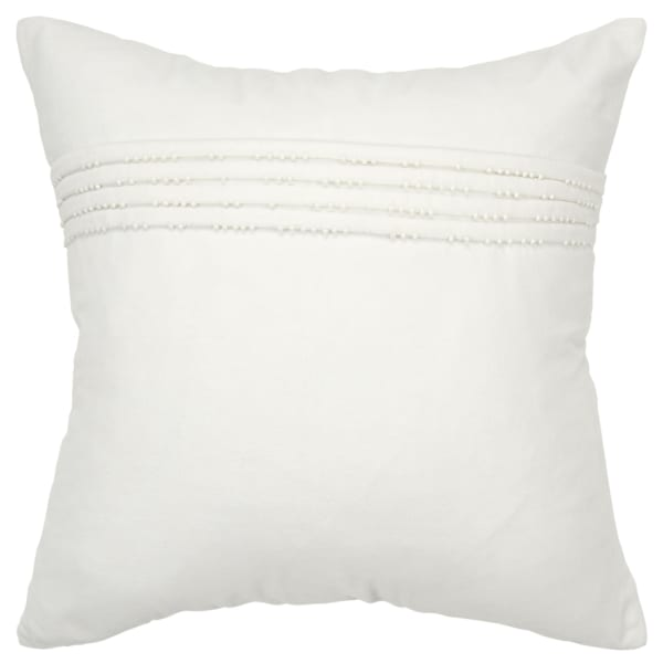 Solid Cotton White Poly Filled Pillow