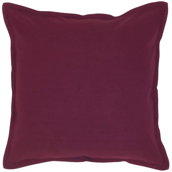 Solid Cotton Wine Pillow Cover