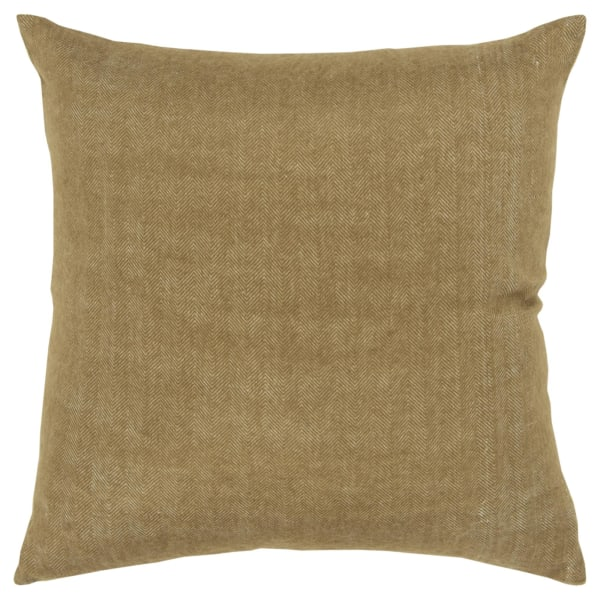 Solid Tweed Gold Pillow Cover
