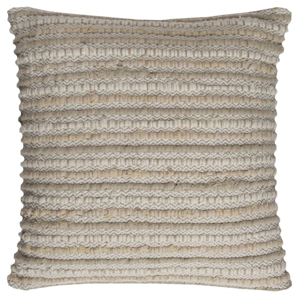 Stripe Cotton Beige/Natural Poly Filled Pillow