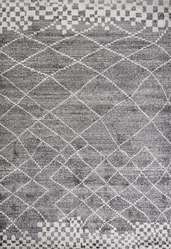 Moroccan Modern Diamond Gray 8' x 10' Area Rug