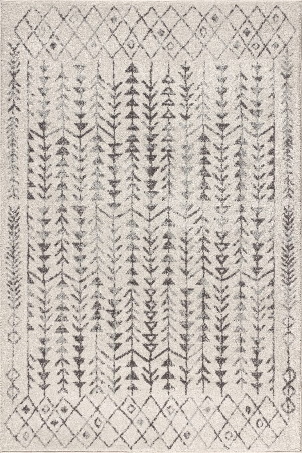 Moroccan Geometric Cream/Gray 5' x 8' Area Rug
