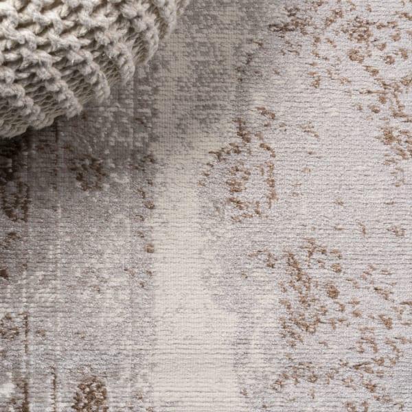 Cottage Medallion Brown/Cream Area Rug