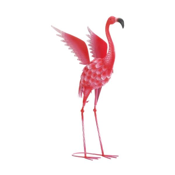 Flying Flamingo Metal Yard Decor
