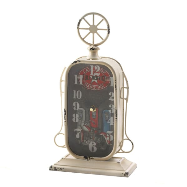 Gas Station Tabletop Clock