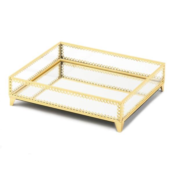 Zingz & Thingz Gold Motif Jewelry Tray 12x10x3