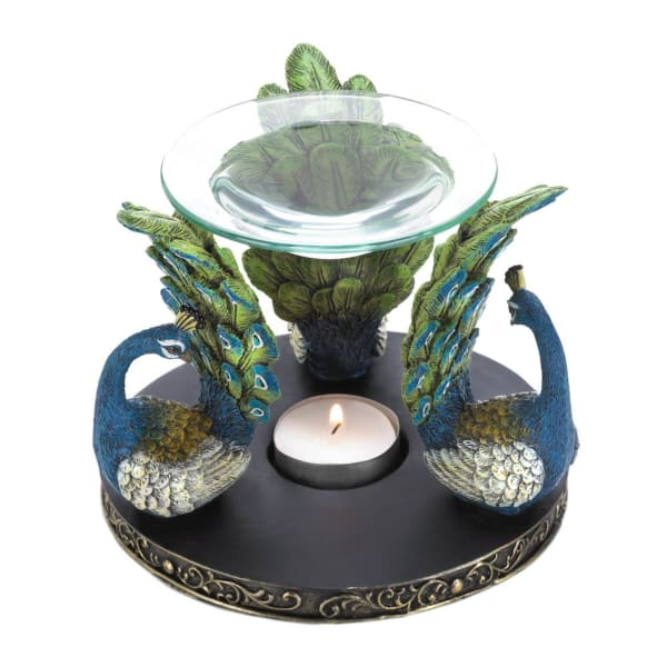 Peacock Plume Triad Candle Oil Warmer
