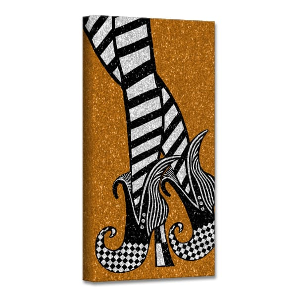 Chic & Bewitched II Copper Halloween Canvas Wall Art