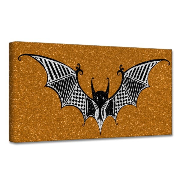 Glamoween Bat I Copper Halloween Canvas Wall Art