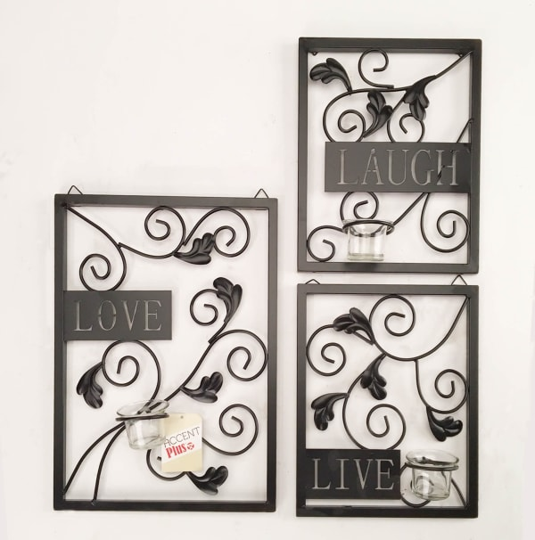 Live Love Laugh Candleholder Wall Décor
