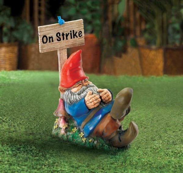 On Strike Garden Gnome