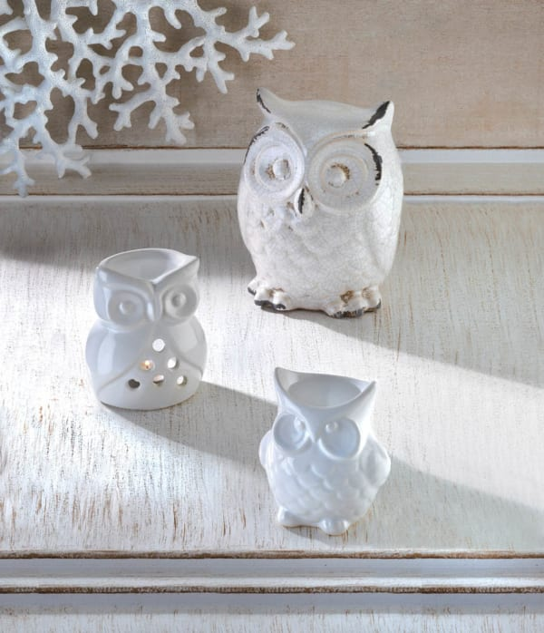 Porcelain Friendly Owl Candle Oil Warmer