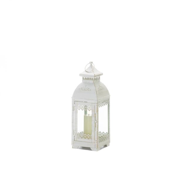 Rustic Metal White Lace Victorian Style Domed Lantern
