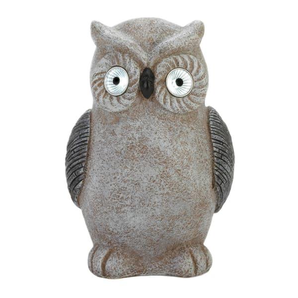 Solar Owl Statue