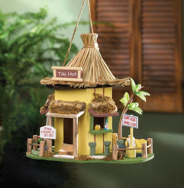 Tropical Tiki Hut Birdhouse