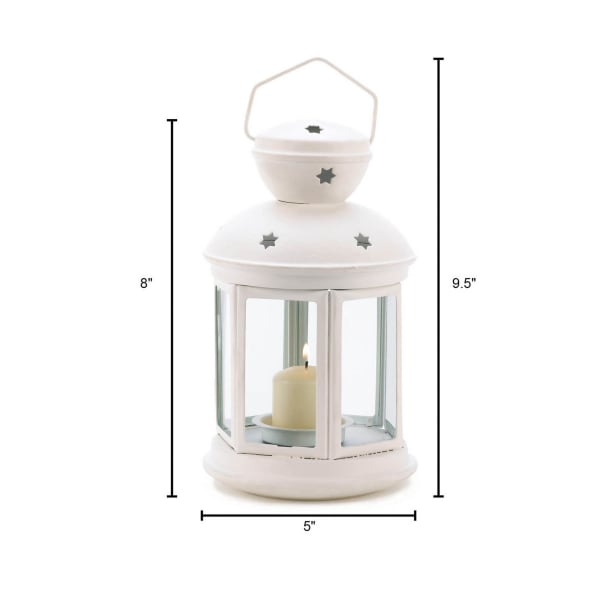 White Colonial Candle Lantern