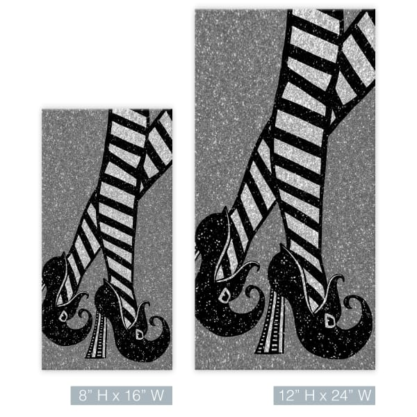 Chic & Bewitched IIIl Gray Halloween Canvas Wall Art
