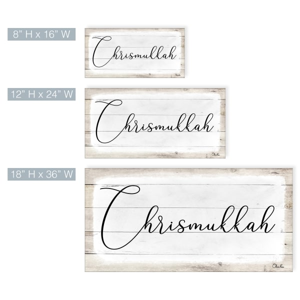 Chrismukkah White Hanukkah Canvas Wall Art