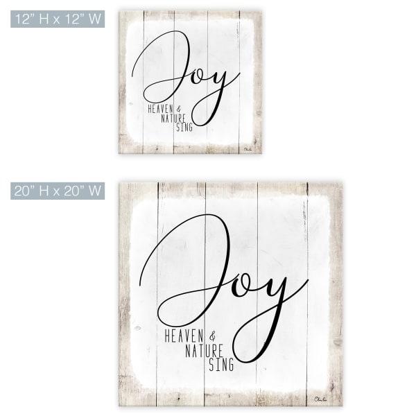 Joy White Holiday Canvas Wall Art