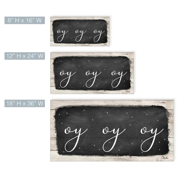Oy Oy Oy l Black Hanukkah Canvas Wall Art