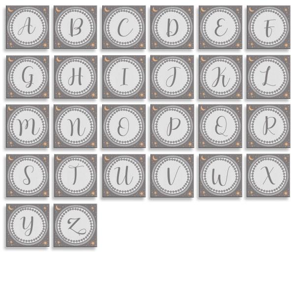 Little Dreamer 3-Pc Canvas Monogram Nursery Wall Art Set - A