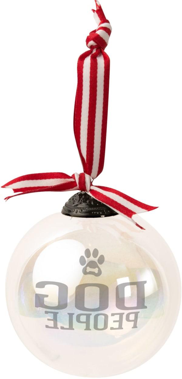 Dog People - Iridescent Glass Ornament