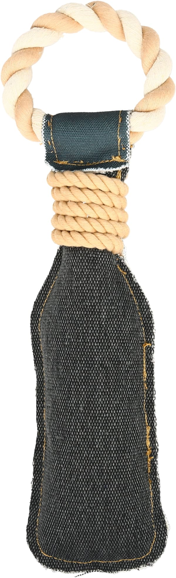 Drinking Alone - Canvas Dog Toy on Rope