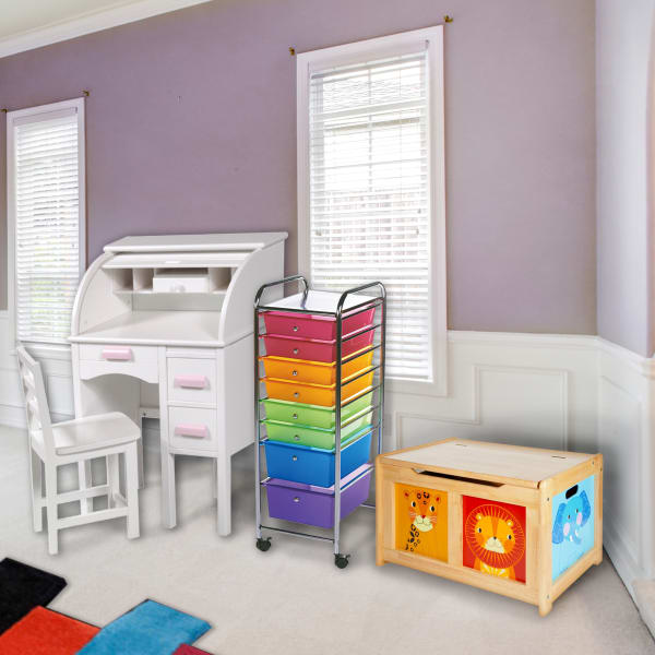 Rolling Colorful Drawers