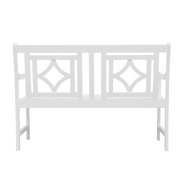 4-foot White Acacia Wood Outdoor Bench