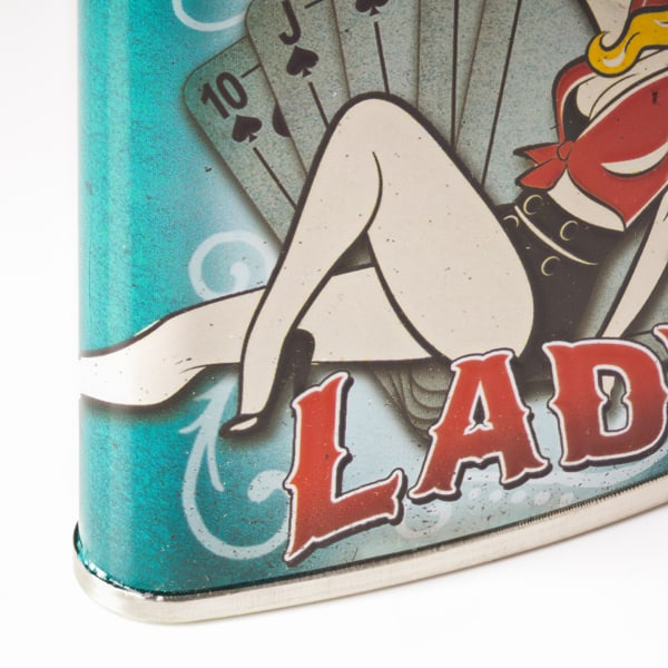 Lucky Lady Stainless Steel Liquor Flask