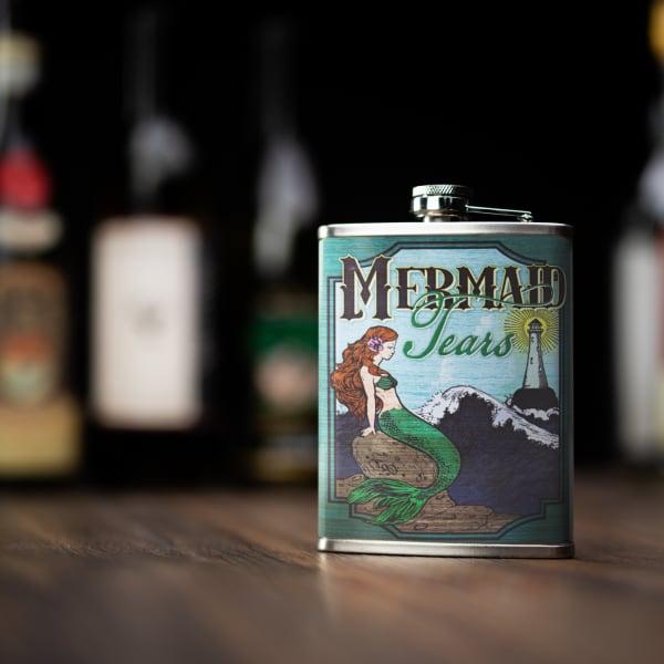 Mermaid Tears Stainless Steel Liquor Flask
