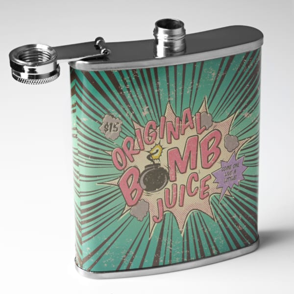 Original Bomb Juice Stainless Steel Liquor Flask