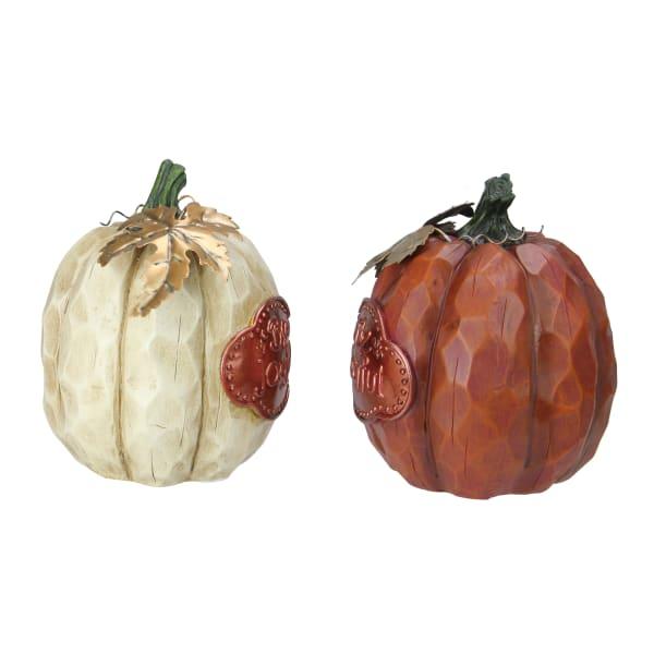 Set of 2 Brown and Cream Autumn Harvest