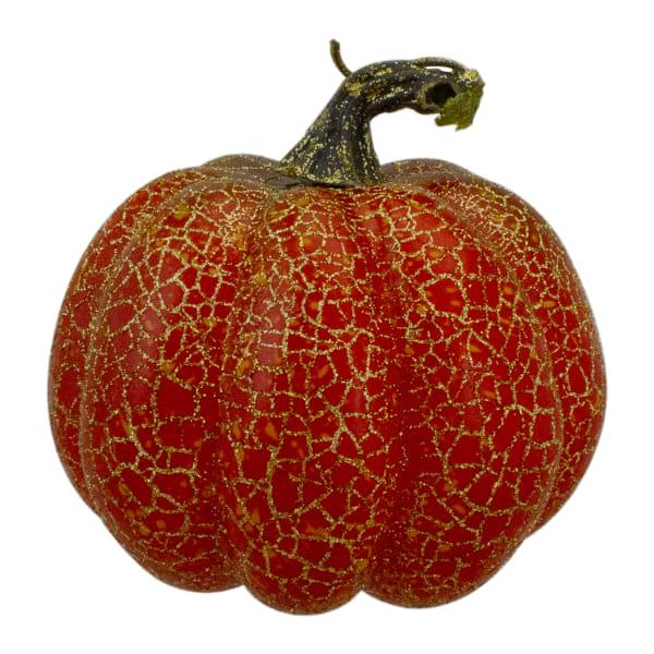 Set of 3 Orange Artificial Fall Harvest Pumpkins