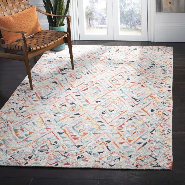 Essence Gray Wool Rug 8' x 10'