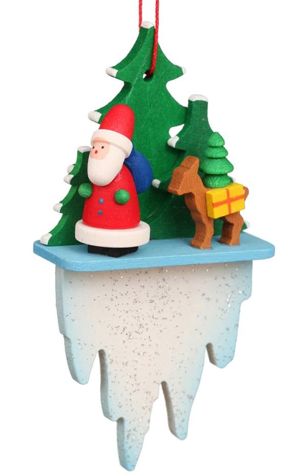 Christian Ulbricht Ornament - Santa and Deer Icicle