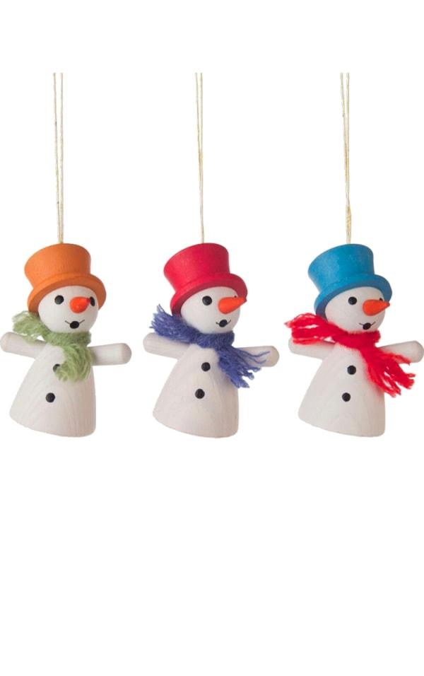 Dregeno Ornament - 3-pc set of Assorted Snowmen