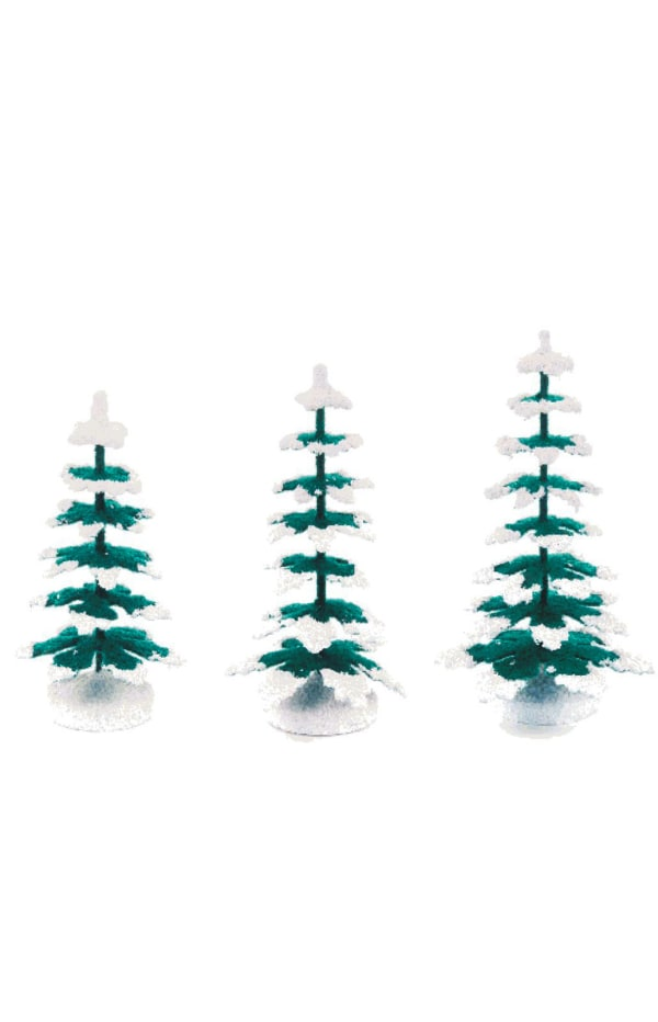 Winter Trees - Small Assortment of 3 (8cm, 9cm and 11cm)