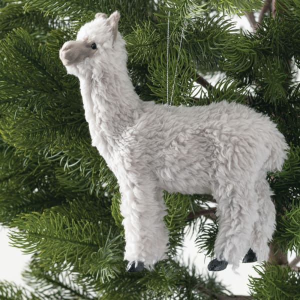 ~NEW~ Pier 1 LLAMA PLUSH ORNAMENT ~ Great Everyday Gift or Christmas Ornament