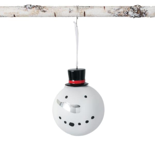 Snowman Top Hat Ball Ornament